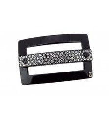 BARRETTE BUCKLE CRYSTALS MEDIUM AA8-16889-03N