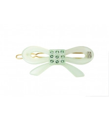 BARRETTE BALLPOINT ATB-1483-15SV BOW STRASS