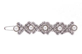 Barrette 301P Ballpoint Tiny Pearls & Swarovsky Crystals