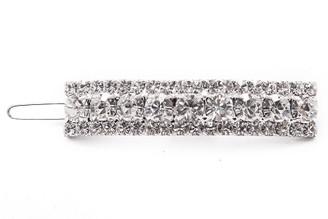 Barrette Ballpoint 14T Swarovsky Crystals