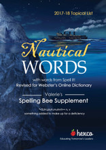 2017-18 Valerie's Supplement theme is Nautical Words, also contains Spell It words
