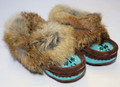 Child Moccasins - Turquoise & Brown