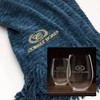 Cobalt Throw/Wine Glasses Combo