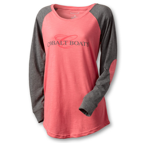 A100 Ladies' Preppy Patch Long Sleeve Tee