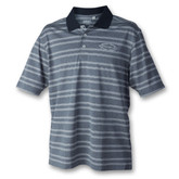 Marker One Navy Striped Polo