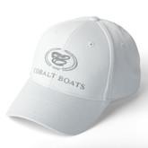 White Twill Cobalt Boats Cap
