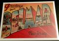 Greetings From Belmar Fridge Magnet