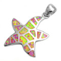Pink Opal Starfish Pendant