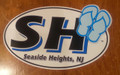 Seaside Heights Sandals Oval Decal