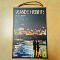 Seaside Heights Skyline Wooden Sign