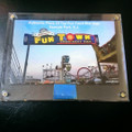 Authentic FunTown Sign Encased Memorabilia