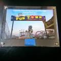 Authentic FunTown Sign Encased Memorabilia