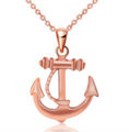Women's Rose Gold Plated Anchor Necklace