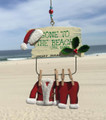 Gone To The Beach Santa Suit Ornament