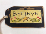 Believe Tag Ornament