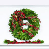 Tartan Holiday Wreath
