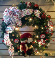 Snowman Lollipop Wreath