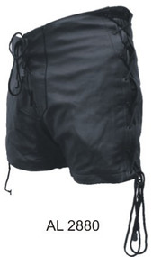Ladies Lambskin Leather Shorts