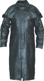 Buffalo Leather Duster with Cape
