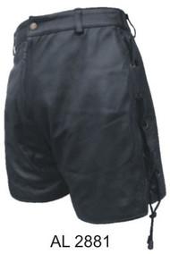 Ladies Lambskin Biker Shorts