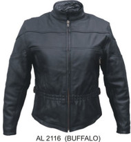 Ladies Buffalo Leather Vented Jacket