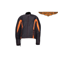Ladies Textile Racer Jacket w/ Sidelaces