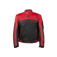 Mens Racer Jacket With Light Reflective Piping