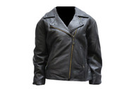 Ladies Heavy Duty Black Soft Leather Jacket