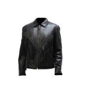 Ladies Naked Cowhide Jacket w/ Diamond, Z/O Lining & Sidelaces
