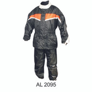Men's Orange/Black Rain Suit