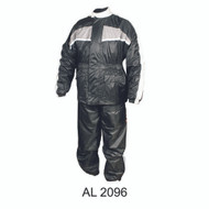 Men's Gray/Black Rain Suit