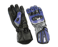 Men's Blue Sport bike riding gloves.