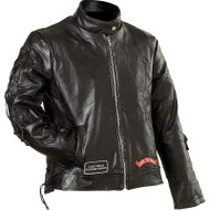 Ladies' Genuine Buffalo Leather Motorcycle Jacket