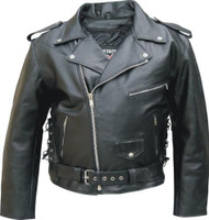 Men's Premium Buffalo Leather Biker Jacket