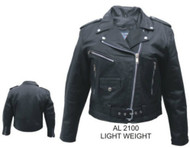 Ladies Lightweight Lambskin Motorcycle Jacket