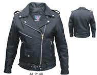 Ladies Full Cut Motorcycle Jacket