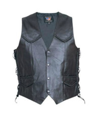 Mens Braided Vest with Side-laces
