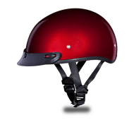 D.O.T. DAYTONA SKULL CAP- BLACK CHERRY METALLIC