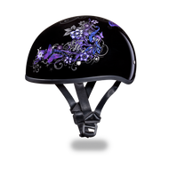 D.O.T. DAYTONA SKULL CAP- With  BUTTERFLY