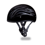 D.O.T. DAYTONA SKULL CAP- With  Flames