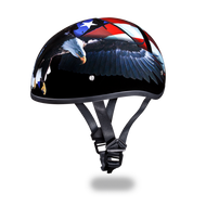 D.O.T. DAYTONA SKULL CAP- With   Freedom Graphics