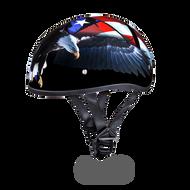 D.O.T. DAYTONA SKULL CAP- With   Freedom Graphics