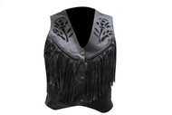 Ladies Black Rose Inlay Vest