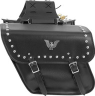PVC Motorcycle Saddlebags With Studs