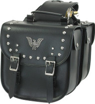 PVC- 70 Motorcycle Saddlebag With Studs