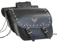 PVC-74 Motorcycle Saddlebags With Studs