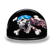 D.O.T. DAYTONA SKULL CAP- W/ PATRIOT Graphics