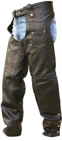 Lined Buffalo Leather Unisex Chaps