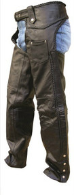 Braided Buffalo Leather Unisex Chaps