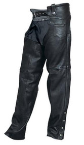 Plain Drum Dyed Naked Cowhide Leather Chaps